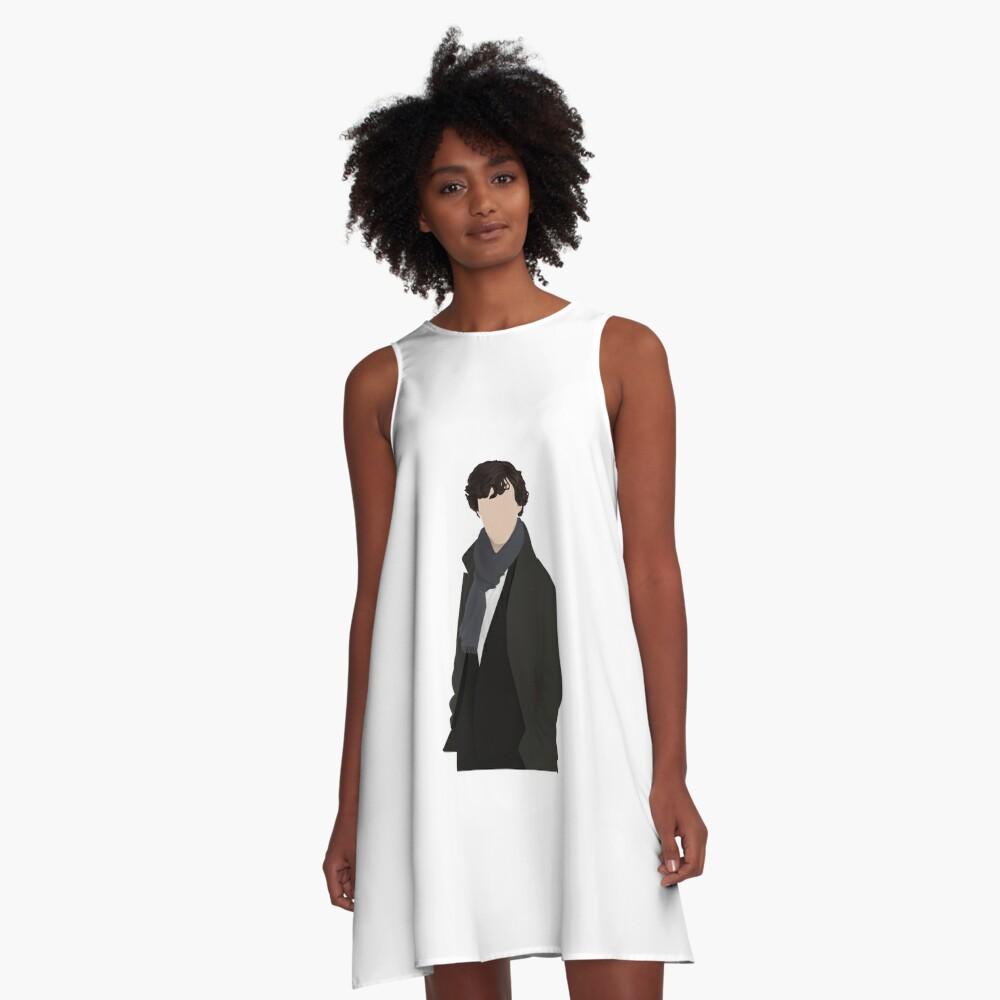 Sherlock Vector A-Line Dress Front