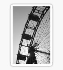 Monochrome ferris wheel, Vienna Sticker