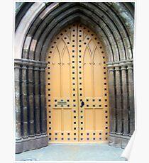 A Kirk (church) door in Perth Poster
