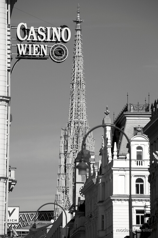 Vienna casino sign and street view by moderntraveller