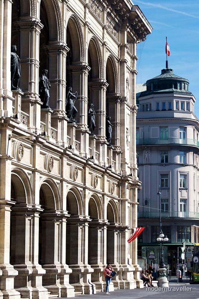Vienna street and buildings by moderntraveller