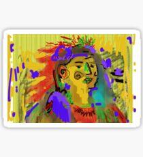 Art Brut Native American Indian Sticker