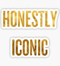 Honestly Iconic - Gold Sticker