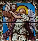 Stained Glass Window in a Church in Nice, France by Gerda Grice