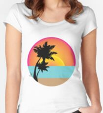 Ocean View Women's Fitted Scoop T-Shirt