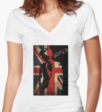 Sherlock Bored Vector Women's Fitted V-Neck T-Shirt