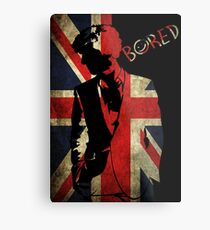 Sherlock Bored Vector Metal Print
