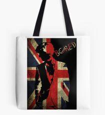 Sherlock Bored Vector Tote Bag