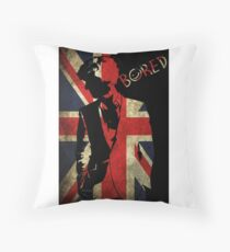 Sherlock Bored Vector Throw Pillow