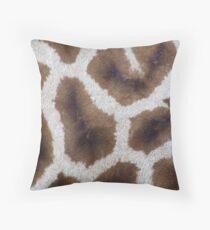 giraffe skin Throw Pillow