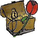 Treasure Chest with a Rose by Peter Fenton