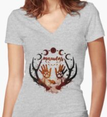 Marauders. Women's Fitted V-Neck T-Shirt