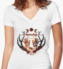 Marauders. Women's Fitted V-Neck T-Shirt