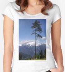 Overlooking Stubaier Alps  Women's Fitted Scoop T-Shirt