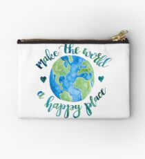 Make the World a Happy Place Studio Pouch