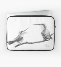 Ruby-Throated Hummingbird: Mother and Chick, 2012, Pencil Laptop Sleeve