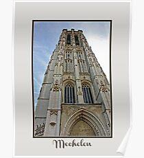 Mechelen Cathedral Belgium Poster