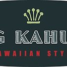 Big Kahuna Hawaiian Style Oval by Frank Schuster
