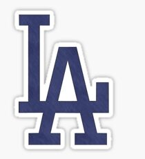 °BASEBALL° L.A. Dodgers Denim Logo Sticker