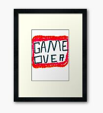 GAME OVER!!! Framed Print