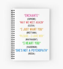 Lesbian Ships Quotes Spiral Notebook