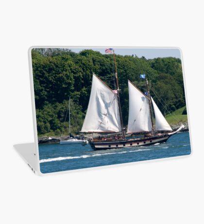 Tall Ship Sailing Past Newport, RI Laptop Skin
