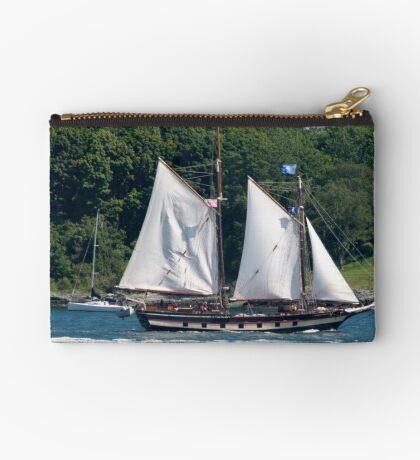 Tall Ship Sailing Past Newport, RI Studio Pouch
