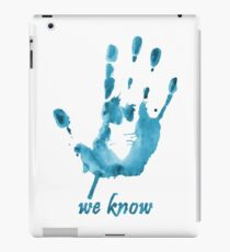 We Know - Dark Brotherhood - Watercolor iPad Case/Skin