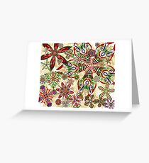 Christmas Kaleidoscope Floral 2 Greeting Card
