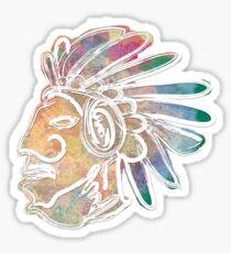 Mayan Chief Sticker