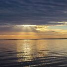 Crepuscular Rays Above Napeague Bay   Springs, New York by © Sophie W. Smith