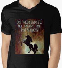 Unicorns Smash Patriarchy! Men's V-Neck T-Shirt