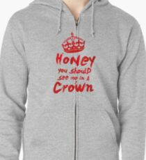 Moriarty Quote Zipped Hoodie