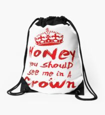 Moriarty Quote Drawstring Bag