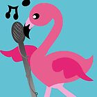 singing flamingos by tan295