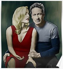 Gillian Anderson and David Duchovny Poster