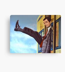 Mister Bean Painting Canvas Print