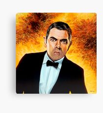 Rowan Atkinson alias Johnny English Painting Canvas Print