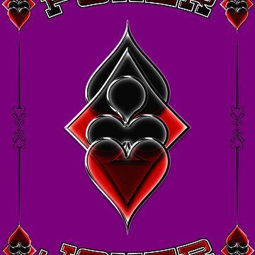 Great Poker Joker Design Spades Hearts Diamonds Club Shiny Bling Overlap by DooodleGod
