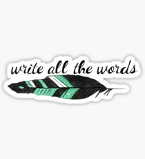 All The Words Sticker