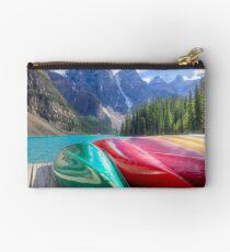 Kayaks on Moraine Lake Studio Pouch