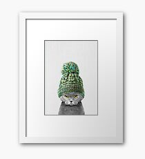 Lámina enmarcada Gatito con un sombrero