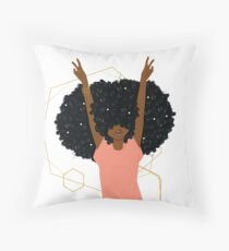 Hair Goals Throw Pillow