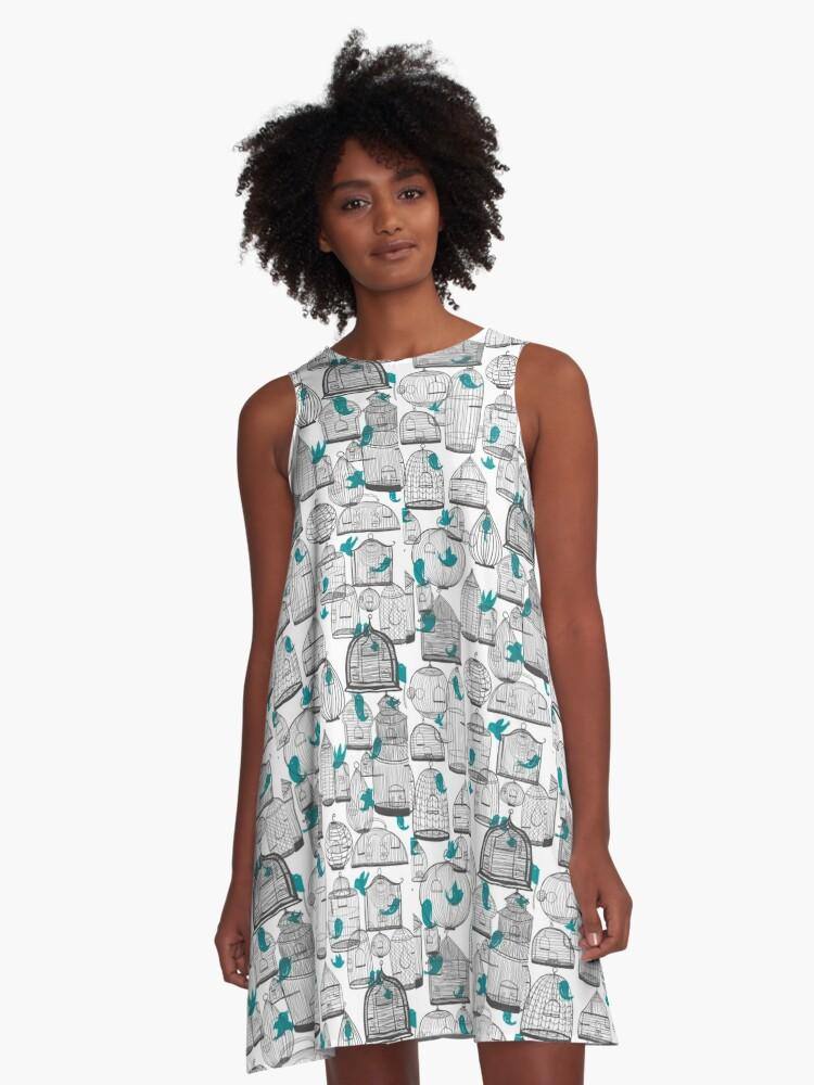 CHIRP! CHIRP! (light) A-Line Dress Front