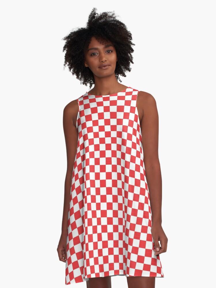 Square Art - 097 A-Line Dress Front