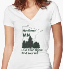 Northern Minnesota Women's Fitted V-Neck T-Shirt