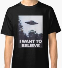 The X-Files I Want To Believe Classic T-Shirt