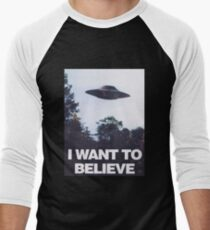 The X-Files I Want To Believe Men's Baseball ¾ T-Shirt