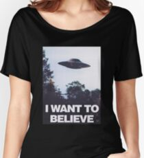 The X-Files I Want To Believe Women's Relaxed Fit T-Shirt