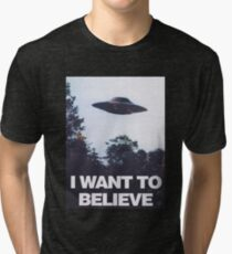 The X-Files I Want To Believe Tri-blend T-Shirt